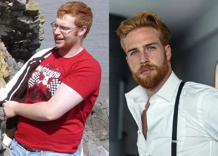 Парень похудел на 45 кг и стал моделью, отличная мотивация заняться спортом прямо сейчас!